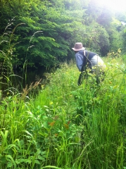 Jon creeping up on some midges